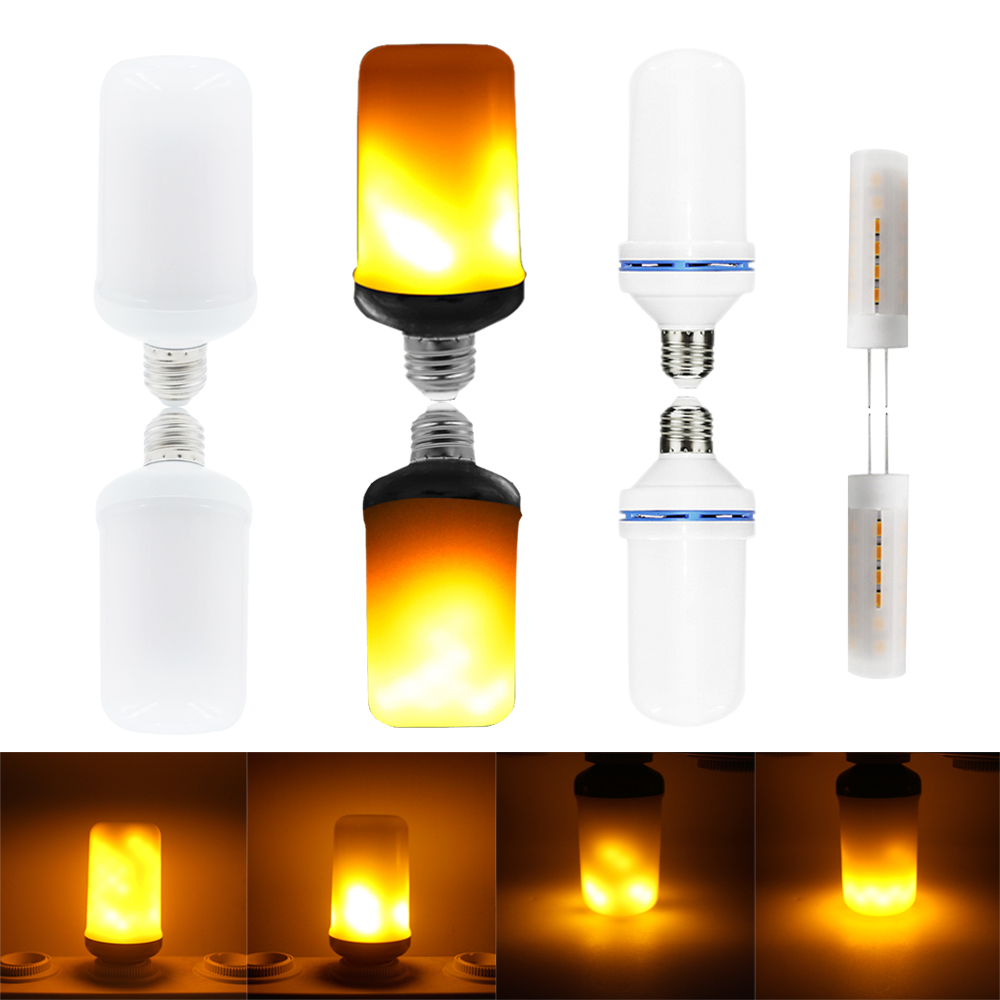 E27 LED Flame Lamp Fire Light Corn Bulbs E26 9W Creative Lights AC85-265V Flickering Emulation Lamps 3 modes+Gravity Sensor 4w e27 e26 led dynamic flame effect fire lamp bulbs flicker emulation light bulb ac100v 240v night lights with 3 modes lampada