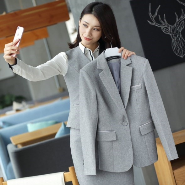 Ol Style Business Casual Skirt or Pant Suits for Women Work Wear Pants or Skirts Suit Womens Slim Two Pieces Set Formal Pantsuit