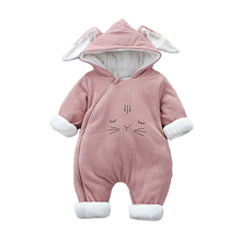 купить 2108 New Russia Baby costume rompers Clothes cold Winter Boy Girl Garment Thicken Warm Comfortable Pure Cotton coat jacket kids по цене 1016.7 рублей