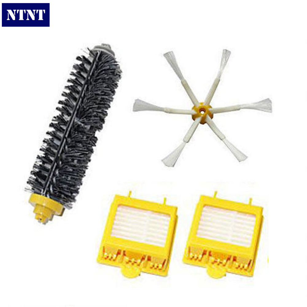NTNT Free Post New Bristle Brush 6 armed & Filters for iRobot Roomba Vacuum 700 series 770 780 760 ntnt free post new bristle brush flexible beater brush for irobot roomba 500 series green