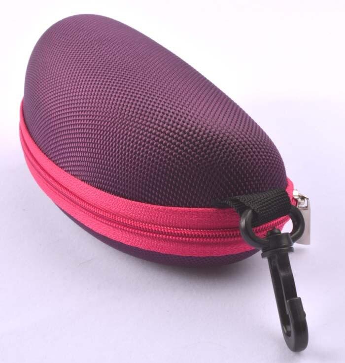 5 шт./лот солнцезащитные очки чехол для солнцезащитные очки с застежкой жесткий ЕВА модные очки поле 7 цветов - Цвет: Фиолетовый