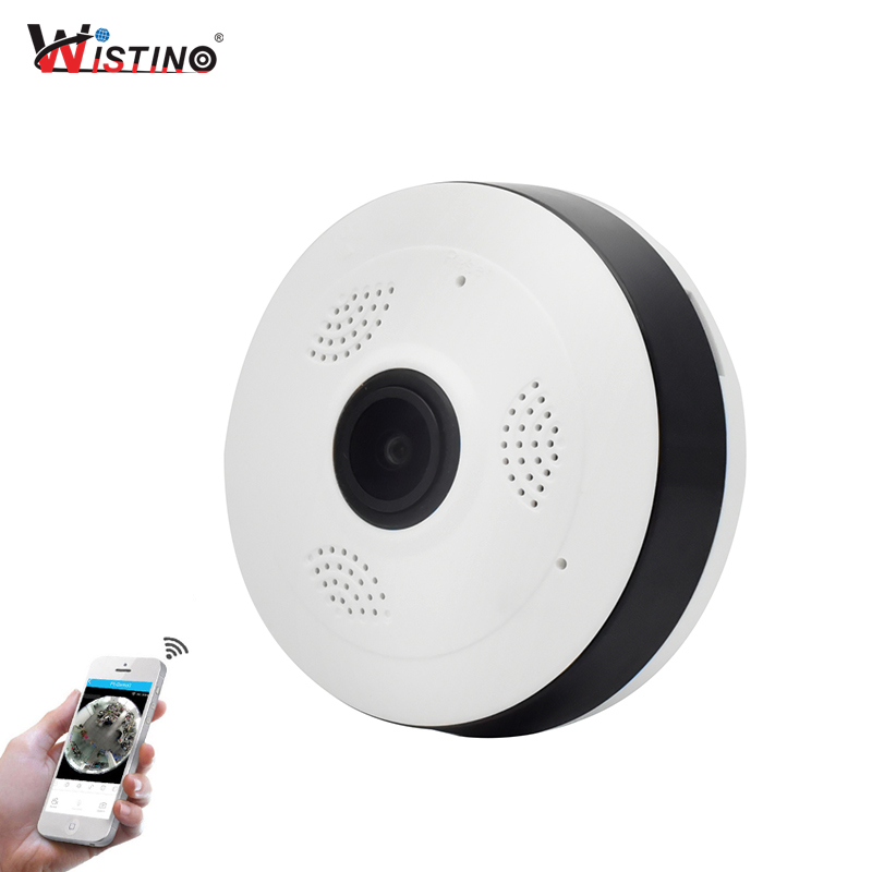 Wistino CCTV HD 960P WIFI IP Camera Alarm Wireless VR Panoramic Camera Fisheye 360 Degree Video Baby Monitor Home Surveillance цена