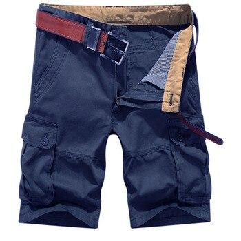 Pantalones cortos Cargo hombres Korte Broek Mannen hombres Multi-bolsa pantalones cortos holgados de gran tamaño Casual Hombre corto cinco pantalones cortos hombres