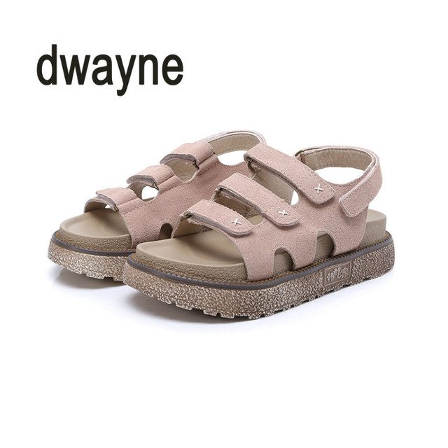 24d2222d1 2018 Hot Sale New Summer Thick Bottom Ladies Roman Flat Sandals Fashion  Trend Summer Muffin Women Sandals