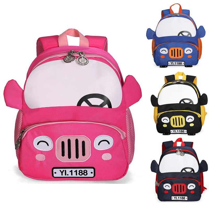Nibesser 3D Mobil Ransel Anak Fashion Cute Anak-anak TK Tas Sekolah Anak Sekolahnya Mochila Escolar Anak Gadis
