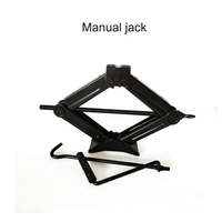 Car Jack General Foldable Handle Scissor Jack 1T Thick Steel Plate Rocker Hand operated Car Truck Jack Auto Lifting Repair Tool