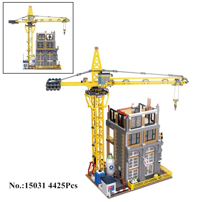 Lepine 15031 4425Pcs Genuine MOC Series The Classic Modular Construction Site Model Building Blocks Bricks Toys For Kids Gifts lepine model