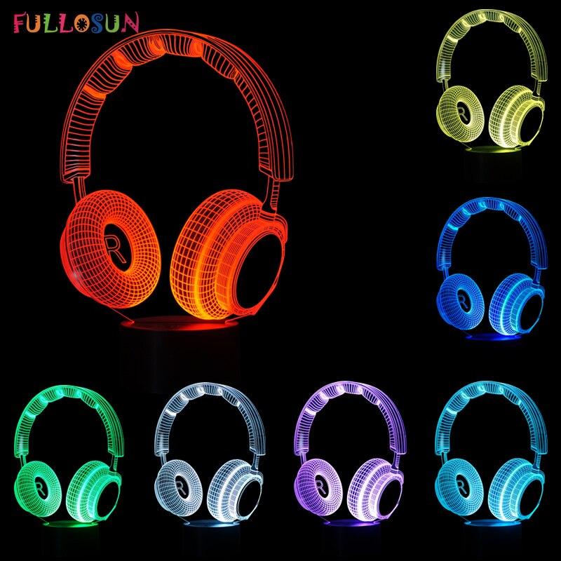 Luzes da Noite ouvido 3d decoração luzes led Geração de Energia : Mudar