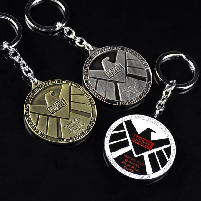 Avengers Aegis Bureau Key Chain Agents of Shield Keychain Pendant Charms Movie Series Ke ...