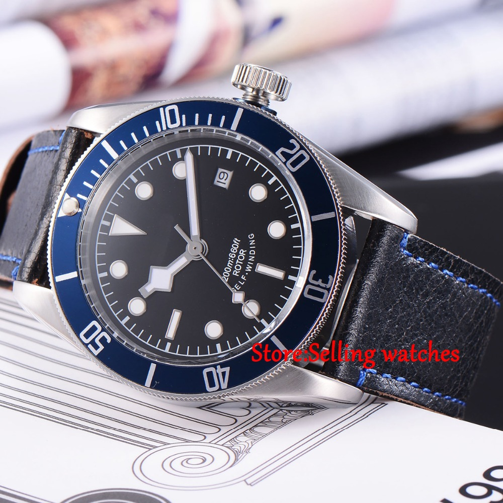 41mm corgeut black dial luminous Sapphire Glass Automatic mens diving Watch C02 41mm corgeut black dial sapphire glass miyota automatic movement mens watch c03