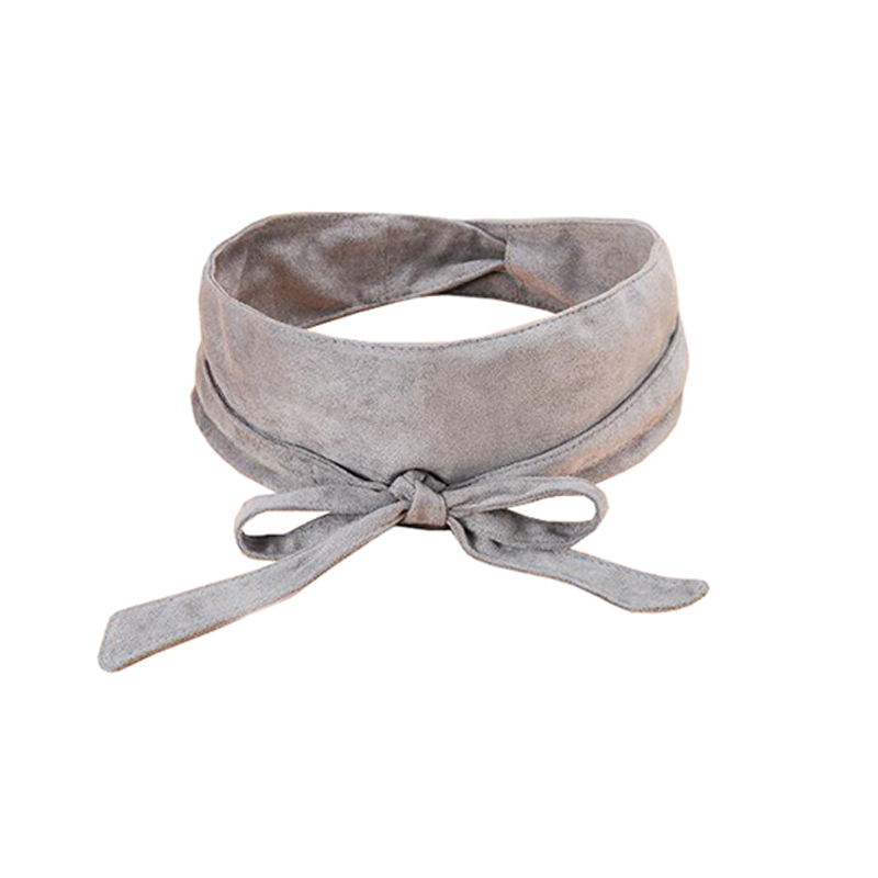 6PCS/LOT SINGYOU Women Belt Faux Suede Bowknot Wide Belt Fashion Corset Ceinture Female Cummerbund For Dress Accessories