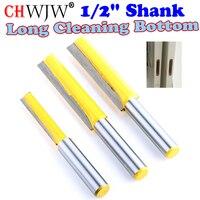 1Pcs 1 2 Shank Long Cleaning Bottom Router Bit Cutter CNC Woodworking Clean Bits