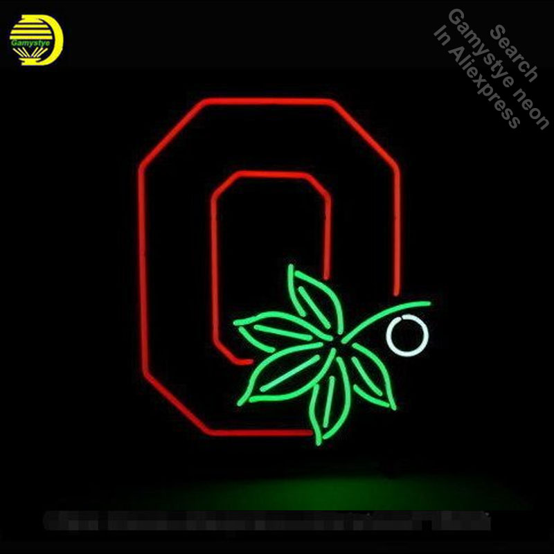 Ohio State Buckeyes Neon Sign Restaurant neon bulb Sign neon lights Sign Real glass Tube Handcraft Iconic Sign Display light up