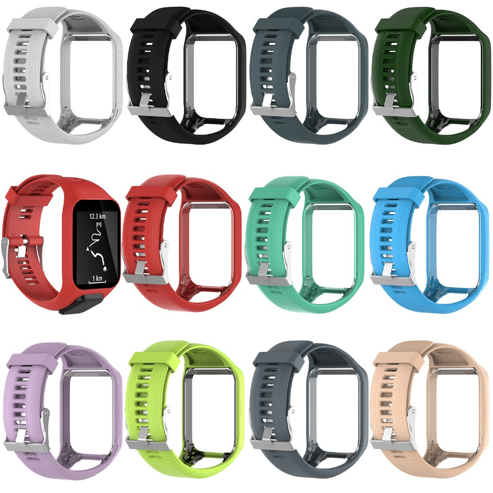 Strap Tomtom Runner Tom-2 Replacement Watchband Silicone for 3-Series