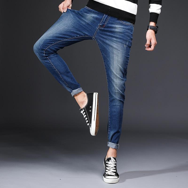 Большой Размеры джинсы Для мужчин новые стрейч хлопок дышащий мужской Демисезонный джинс ...