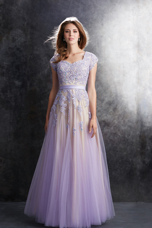 Short Light Purple Prom Dress - Missy Dress