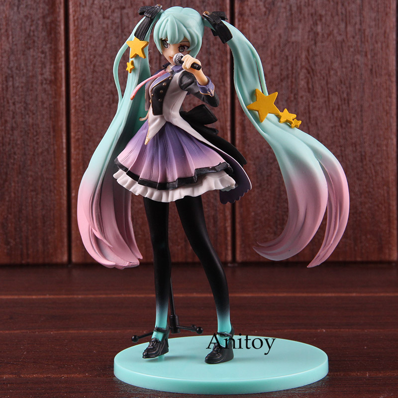 Hatsune Miku Figurine 10th Anniversary Edition PVC Anime Action Figures Collectible Model ToyHatsune Miku Figurine 10th Anniversary Edition PVC Anime Action Figures Collectible Model Toy