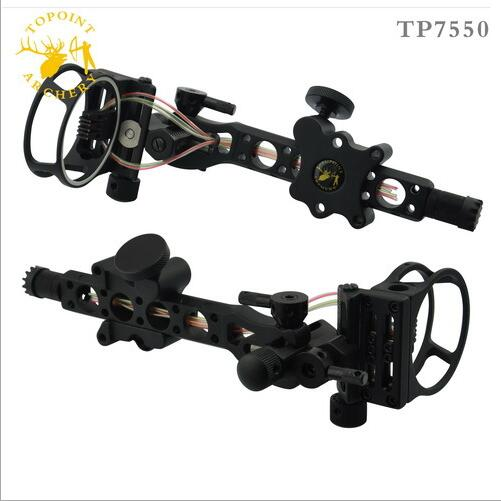 Free shiping 5 pins .019 Bow Sight with Micro Adjust Detachable Bracket, Sight Light - Black for compound bow archery 1pcs/Lot