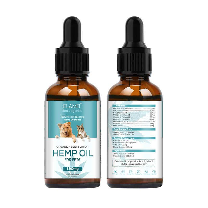 Aceite Esencial de cáñamo para perros hierbas naturales de cuidado de mascotas aceite de ansiedad alivio del dolor articulación de cadera