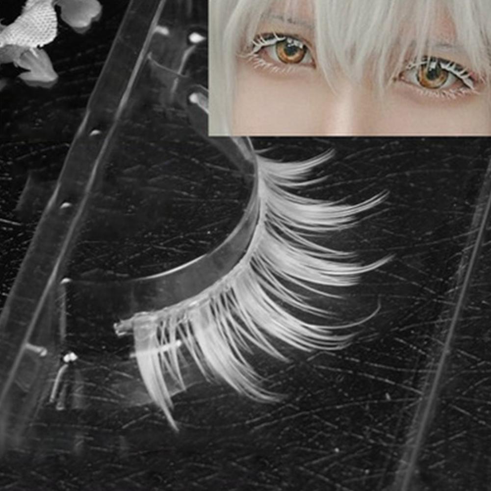 HobbyLane Fashion Handmade Natural White False Eyelashes Long Eyelashes Extension Soft False Eyelashes Cosplay Masquerade