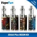 Original 75W Eleaf IStick Pico RESIN E-cigs Vaping Kit W/ Melo 3 Mini Tank 2ml and 75W Pico Resin Box Mod Electronic Cigarette