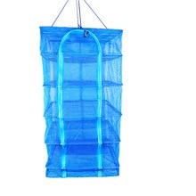 4 Layers Fish Net Flake Drying Fishing Rack Folding Mesh Hanging Non-Toxic Vegetable Dishes Hanger Dryer  B308