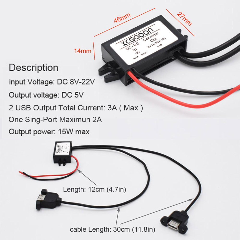 Usb Wiring Color Codes Code Xcgaoon Piecedual Car Converter Module Cable With Aliexpress Com Wire