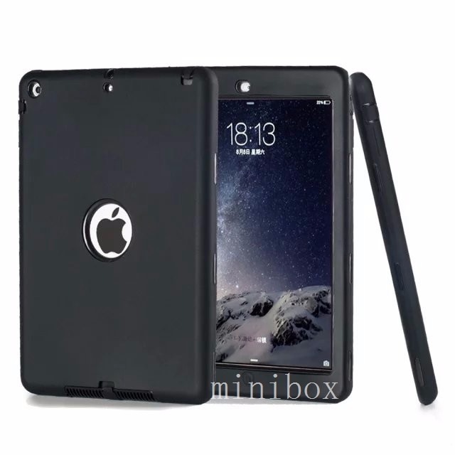 Fashion Tablet Protective Shell Case For Apple iPad Air 1 / 5 Armor Hybrid Silicone Stand cover Kids case