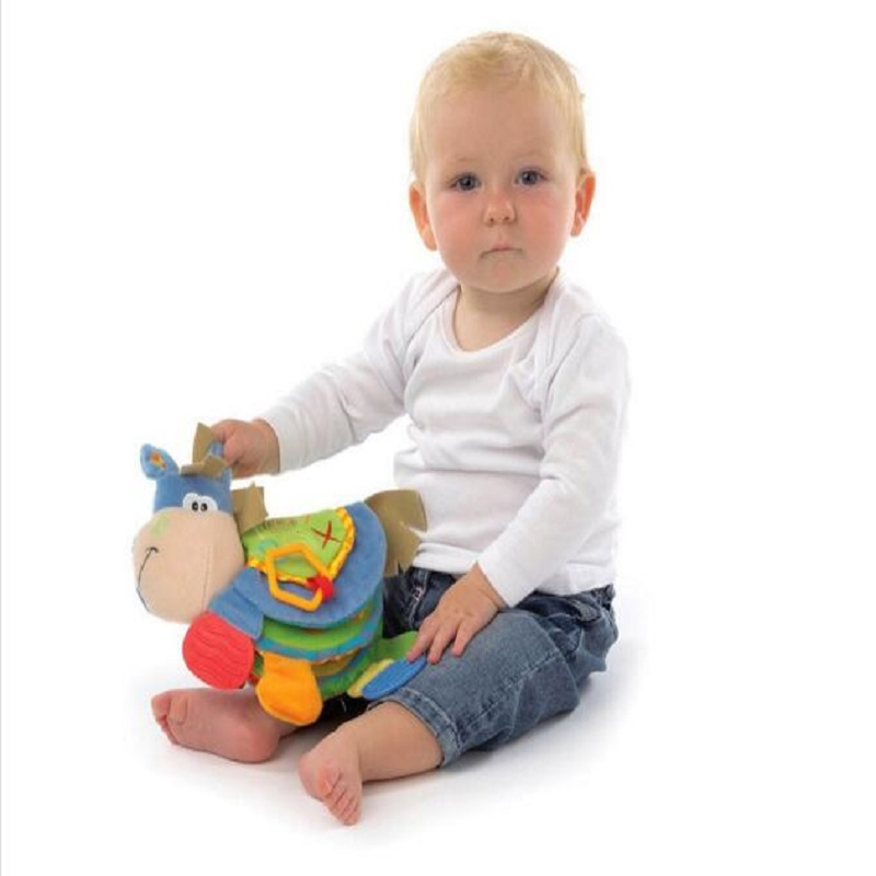 Animal Cloth Book 아기 완구 0-12 개월 활동 도서 개발 - 유아 및 유아용 장난감 - 사진 1