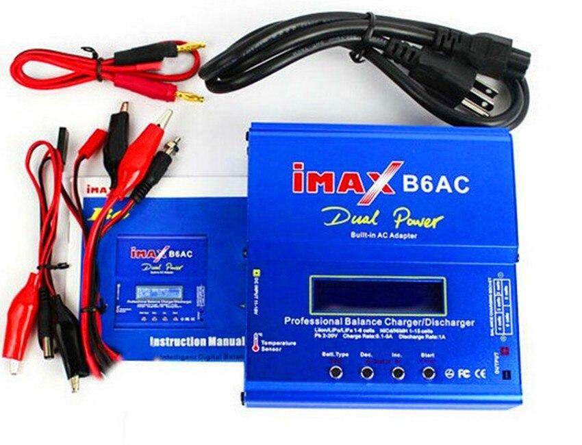 High Quality iMAX B6 AC 80W B6AC 50W Lipo NiMH 3S/4S/5S RC Battery Balance Charger + EU US AU UK plug power supply wire