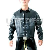 Для мужчин 0.6 мм черный латекс Куртки для мужчин