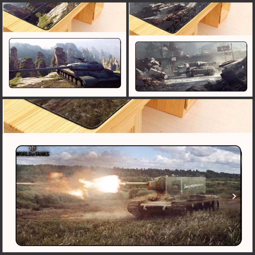 Yuzuoan Free Shipping World of Tanks Mouse Pad pad to Mouse Notbook Computer Mousepad Big Gaming Pad Overlock Edge Mouse Pad