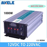 MKP1000 122 off grid pure sine wave 1000w inverter 12 volt 220 volt voltage converter,solar inverter LED Display full power
