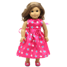 Doll Accessories Girl Dolls Clothes 15 Style Cute Cartoon Logo Print Dress for 16 18 inch