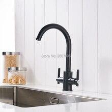 Бесплатная доставка мульти окрашенные краном двойные ручки Управление ванная кухня тщеславия раковина смеситель Deck Mount GI2084