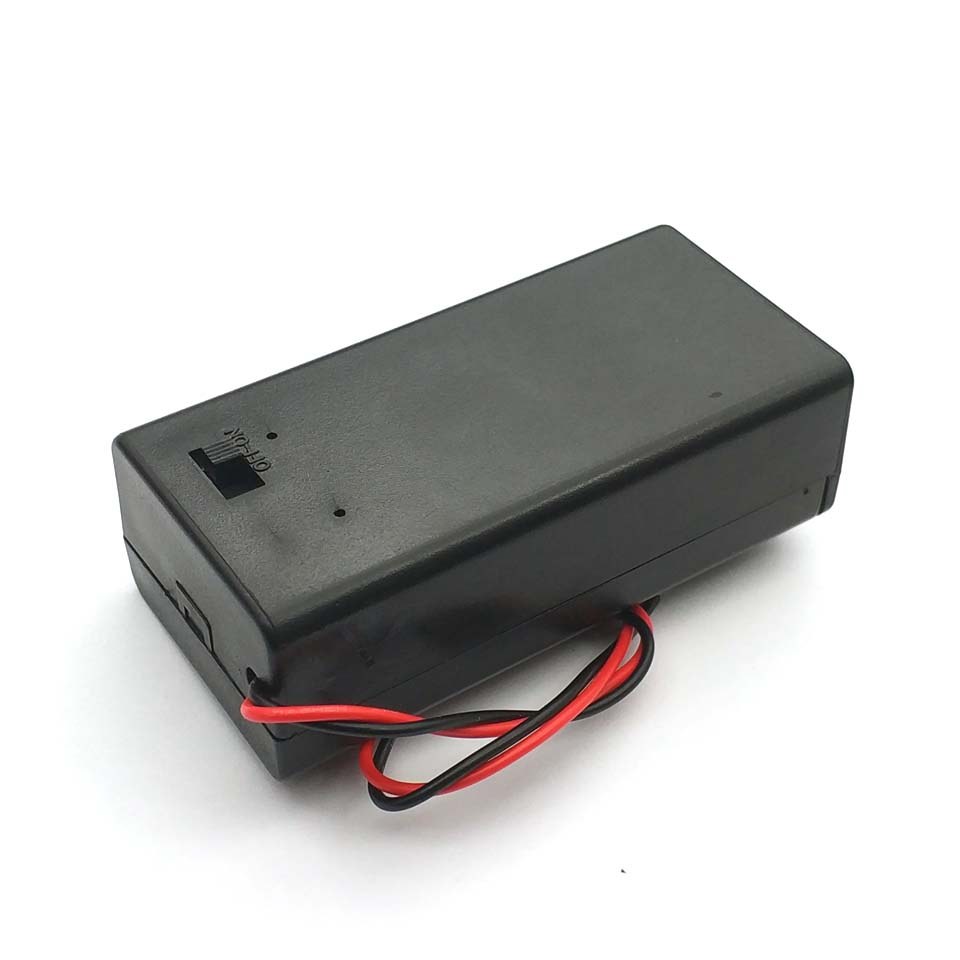 10 PCS DC 9V Volt Battery Clip Holder Box Case w// Wire Lead ON//OFF Switch Cover