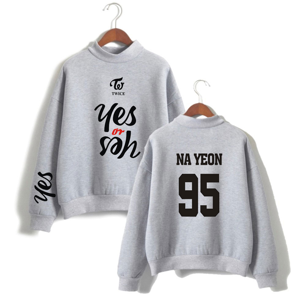 Kpop TWICE Yes or Yes Cotton Pullovers Sweatshirt Unisex Sweaters Sport Tops