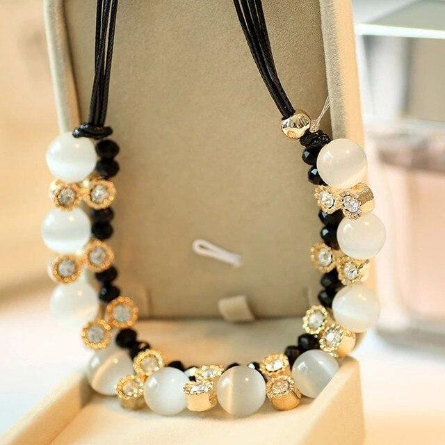 Модное ожерелье высшего качества Стразы Кристальные бусы ожерелья