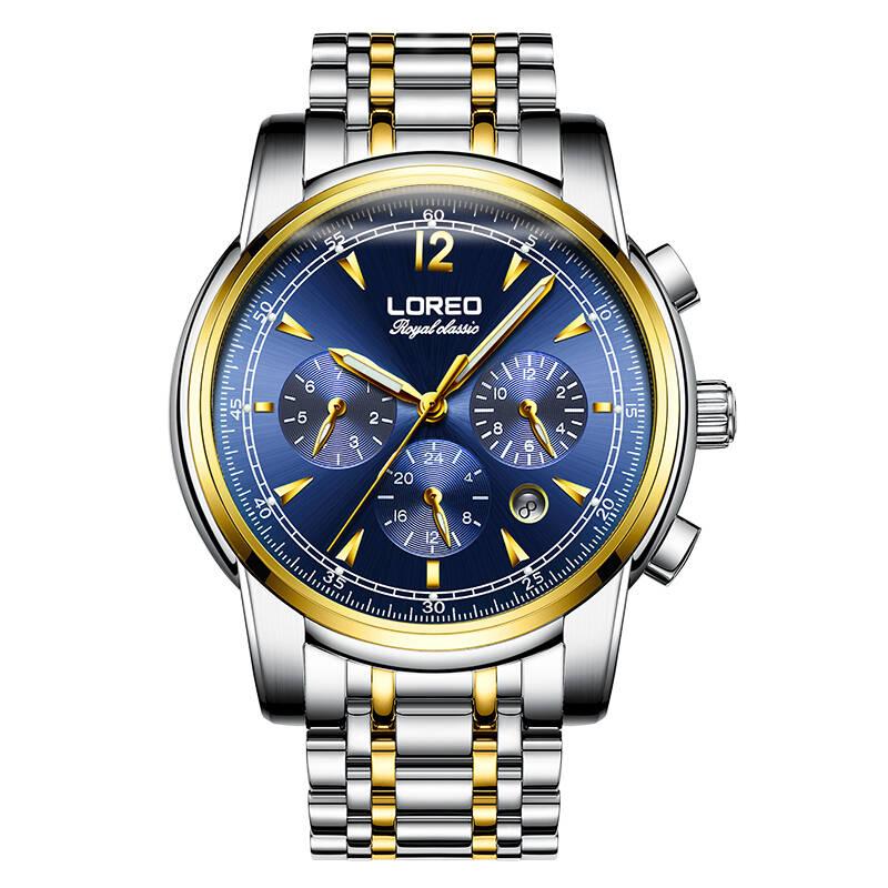 LOREO 6105 Germany watches men luxury brand automatic mechanical luminous waterproof multifunction fashion business men watch цена