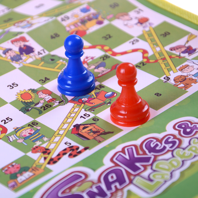 US $1 3 16% OFF|Hot Sale Folding Snake Chess Toys For Children Portable  Snakes and Ladders Puzzle game Preschool Training-in Puzzles from Toys &