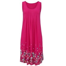 Fashion 2019 Hot Sale Female Casual Beach Mini Dress Ladies Summer Floral Print Sleeveless Tank Dresses floral print tank dress