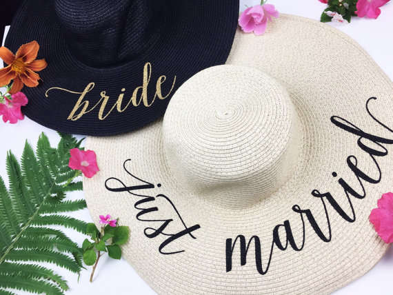 Online Shop Customize Bride Tribe beach wedding floppy Mrs Sequin Sun Hats  Just married Drunk in love Honeymoon bridal party gifts favors  098322d1124