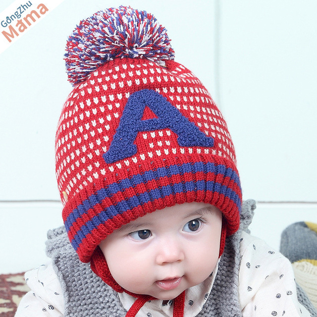Kacakid Unisex Baby Knitted Hat Cute Letter A Knitted Kids Children