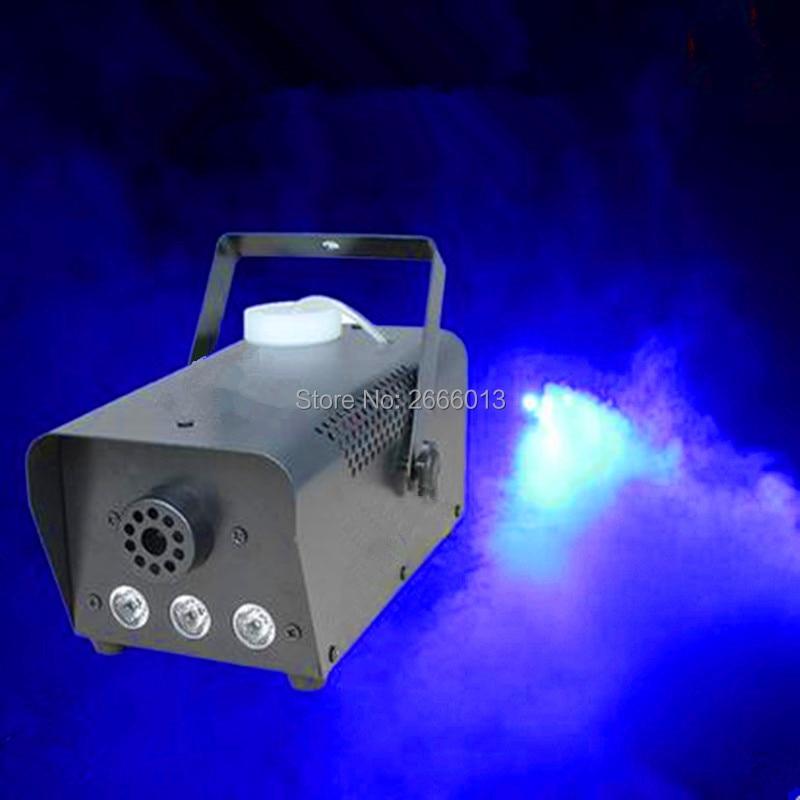 Niugul Blue color 500W LED Smoke machine 500W LED fog machine professional disco stage DJ equipment Fogger maker Fast shipping niugul 1200w smoke machine fog machine for stage show party wedding dj equipments 1200w fogger maker with free