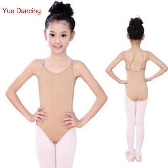Ropa interior de Color Nude/piel leotardo camisola danza leotardo ...