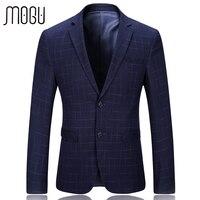 MOGU Plaid Blazer Men 2017 Spring New Arrival Fashion Lattice Men S Jacket Slim Fit Suits