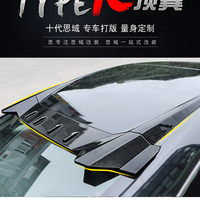 For Honda Civic Spoiler 2016 2017 Type R Style Car Decoration Rear Roof Tail Wing ABS Plastic Black Carbon Fiber Pattern Spoiler