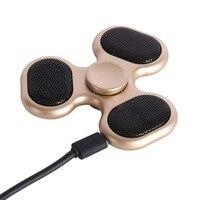 5 Styles LED Bluetooth Spinner Speaker Music Finger Spinner Finger ABS EDC Hand Spinner Tri For