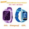 Новый GPS Водонепроницаемый Смарт-Детские Часы Анти-потерянный SOS Монитор Ребенок Подарок Smartwatch Телефон Сенсорный Экран Детские GPS Часы pk q90 q50 q60