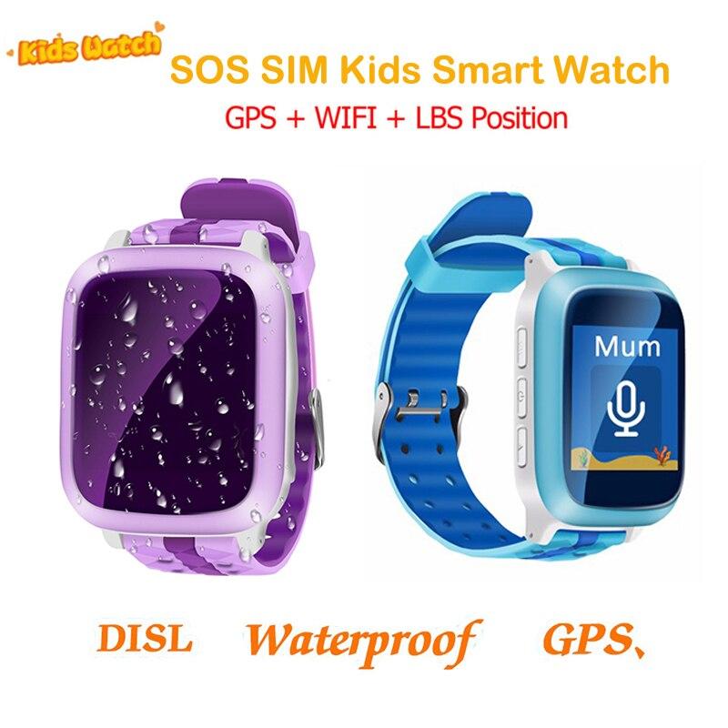 GPS смарт-часы детские часы с SOS